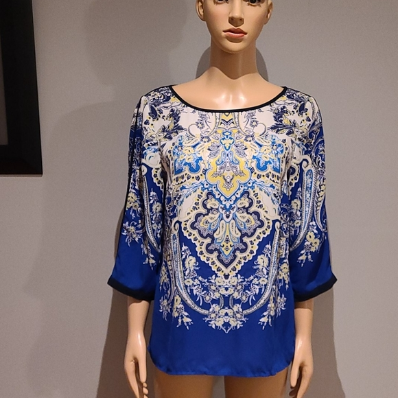 Adrianna Pappell paisley and floral top size S